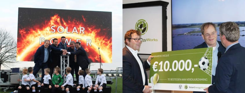 Sponsoring door SolarEnergyWorks voor verduurzamen van voetbalclub ASV57